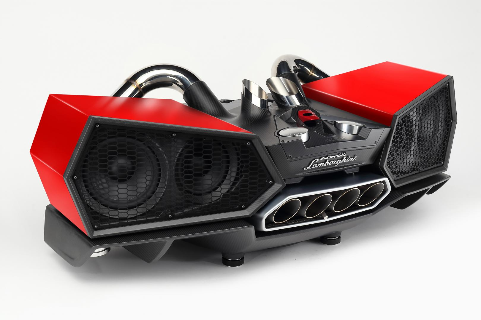 Lamborghini Esavox Carbon Fibre Docking Station Speaker rood