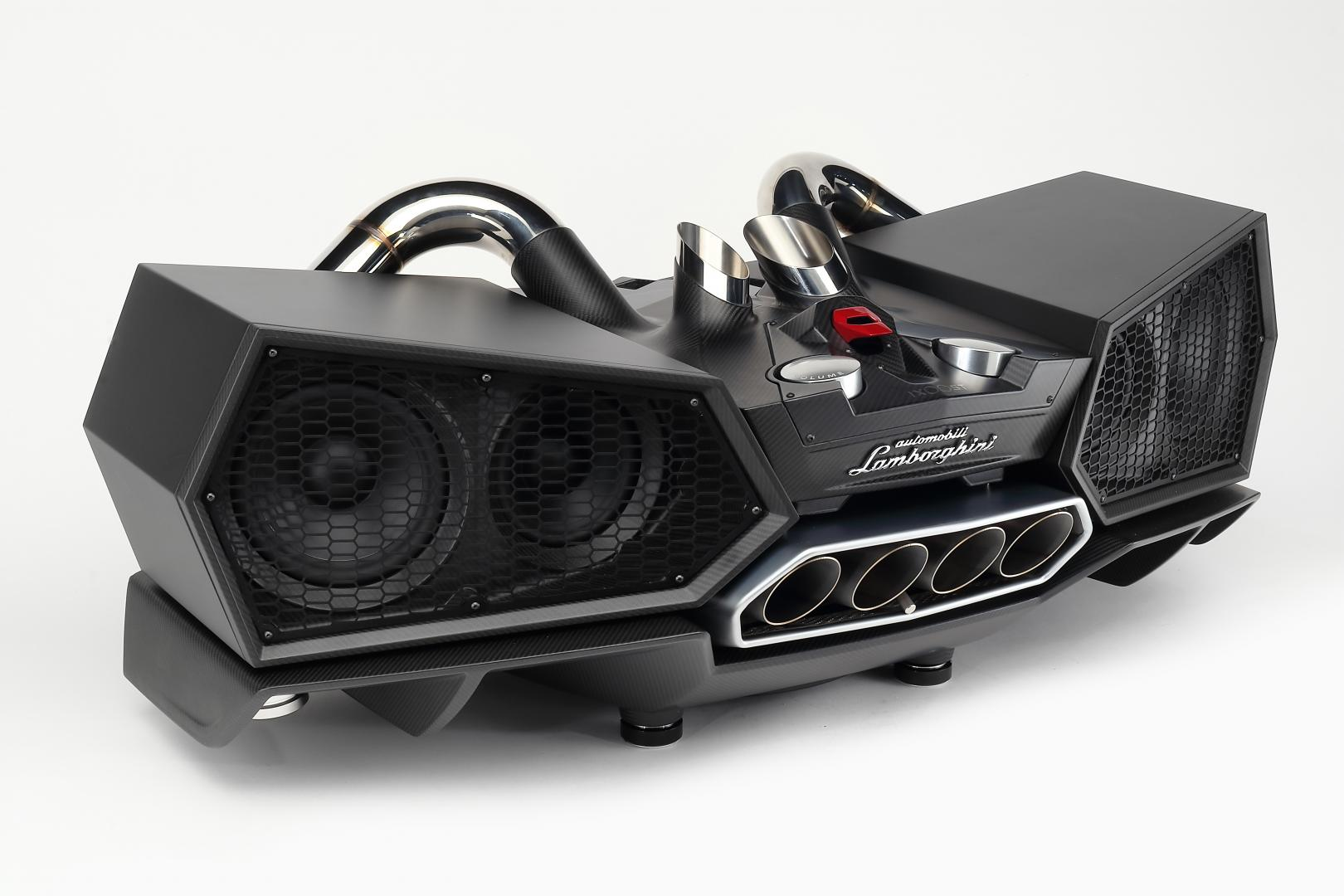 Lamborghini Esavox Carbon Fibre Docking Station Speaker zwart