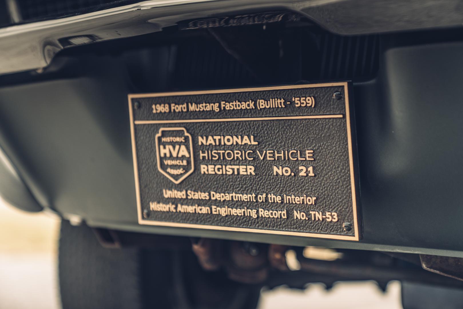 Ford Mustang GT 390 Fastback 68er Highland Green Steve McQueen The Boss kenteken