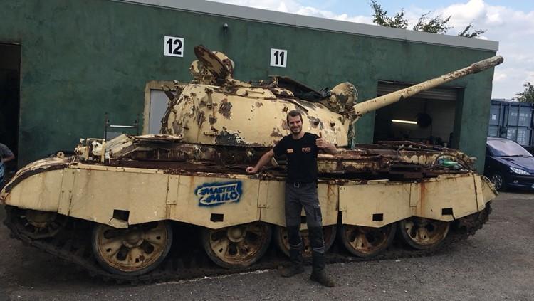 Emile Luijben YouTuber Mastermilo82 Russische tank