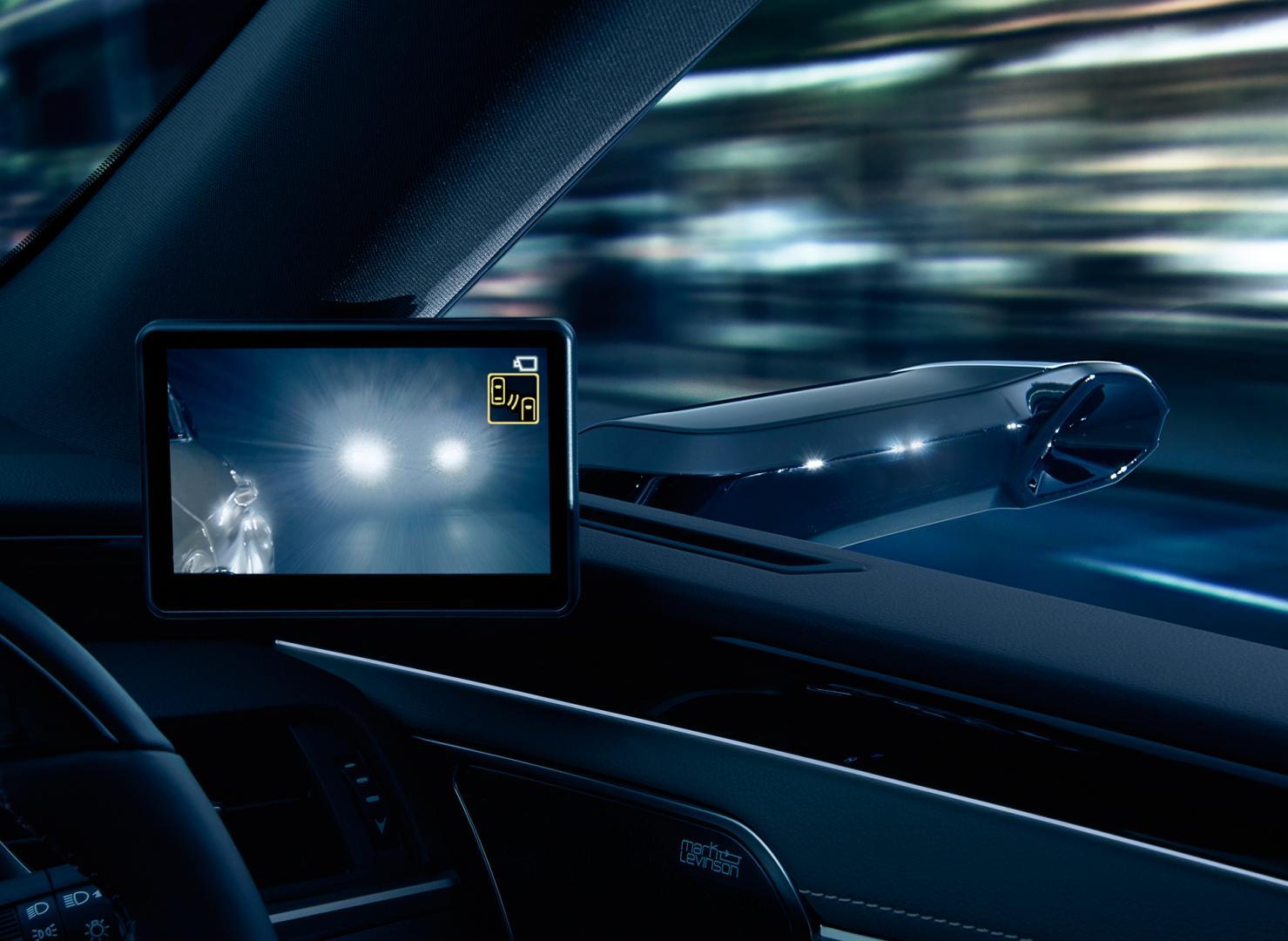Lexus ES digitale buitenspiegels nacht