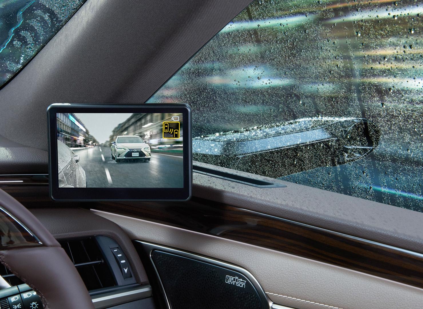Lexus ES digitale buitenspiegels regen ruit