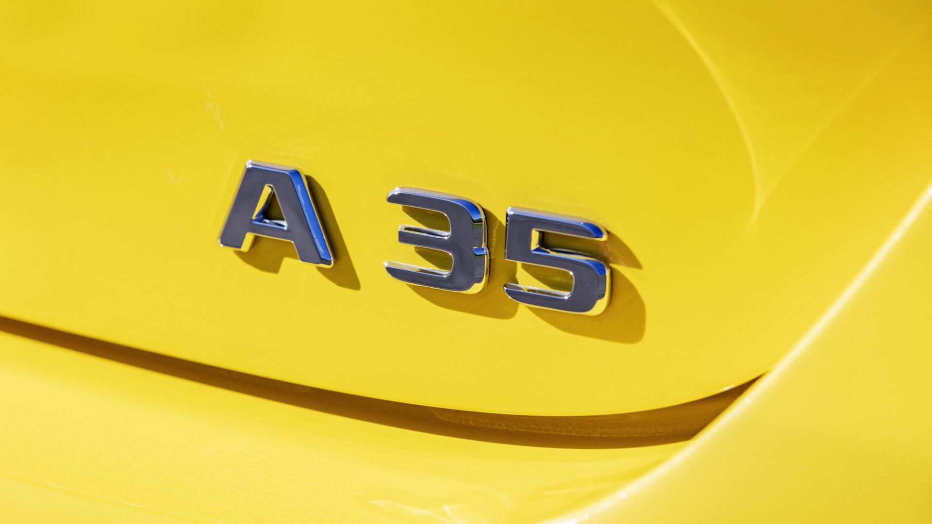 Mercedes-AMG A35 hot hatch logo