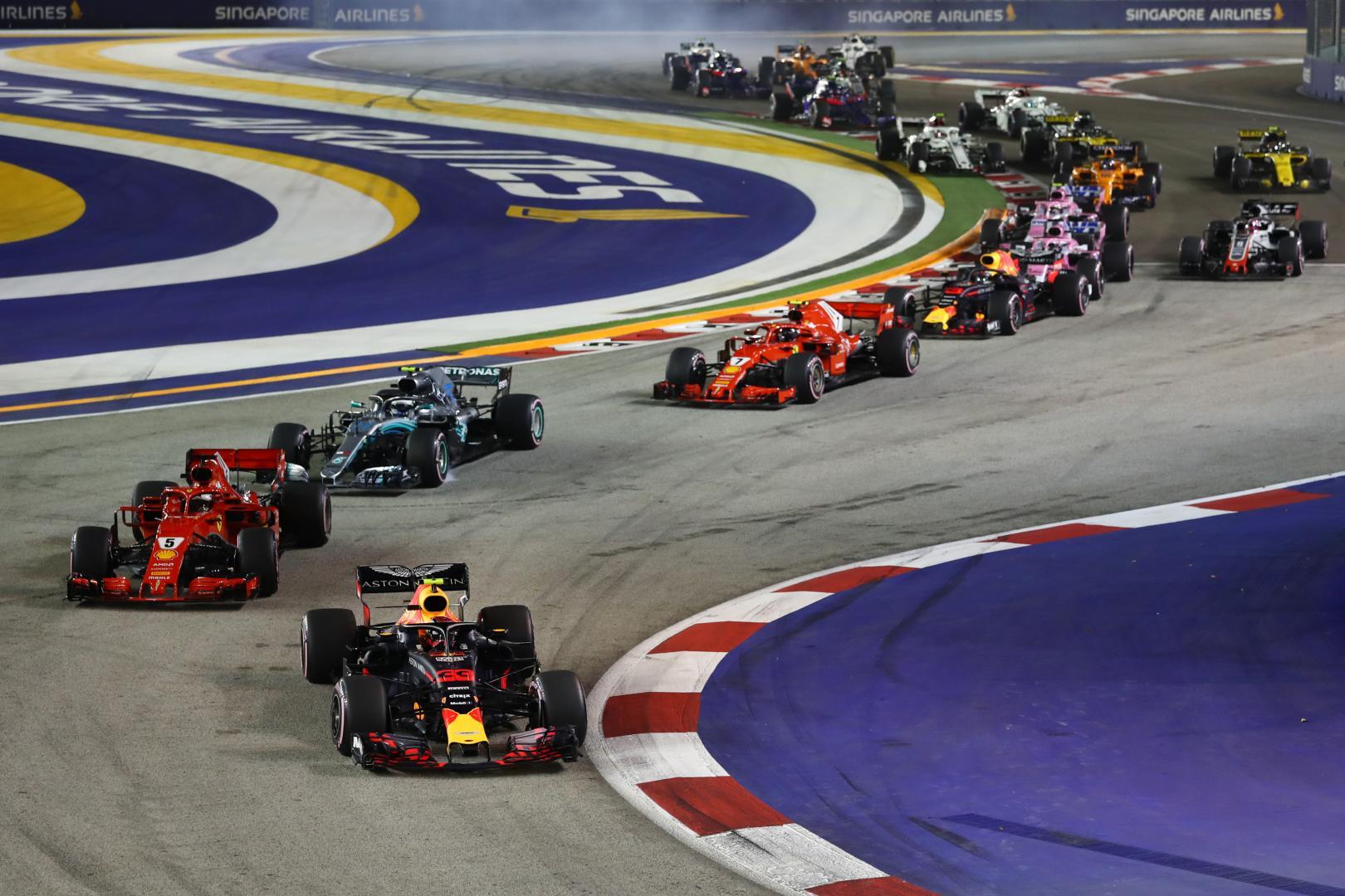 Uitslag van de GP van Singapore 2018