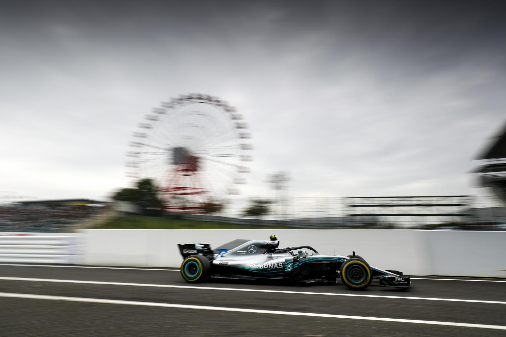 3e vrije training van de GP van Japan 2018