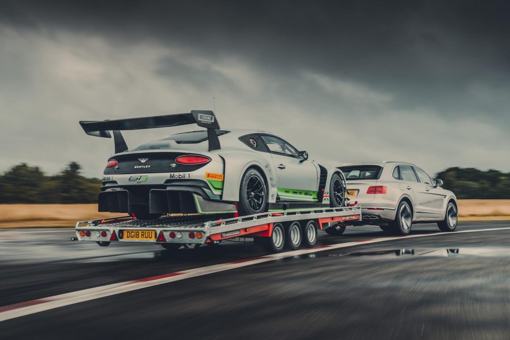 Bentley Bentayga en Continental GT3