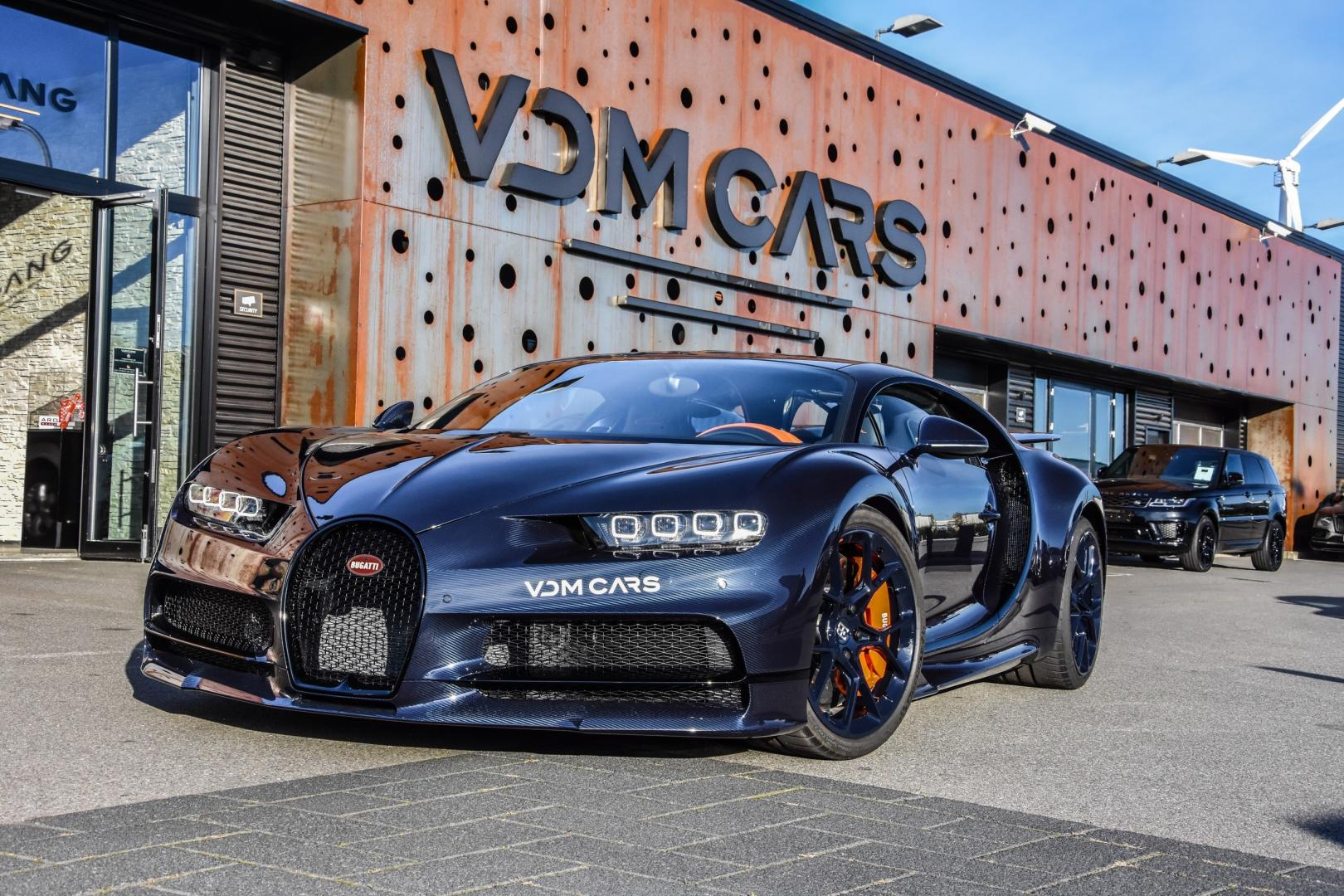 Bugatti Chiron in Blue Royal Carbon