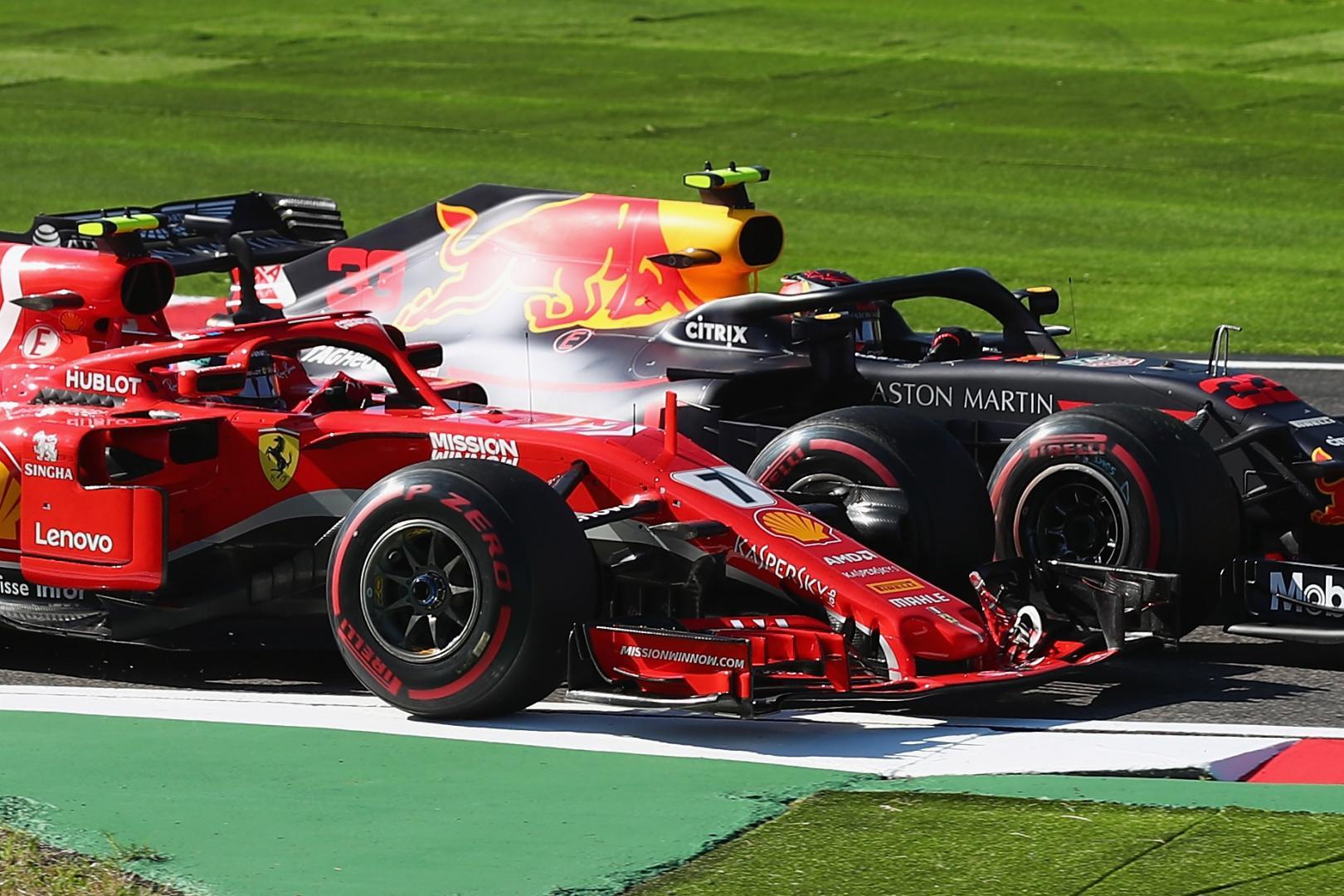 Sebastian Vettel Max Verstappen Suzuka