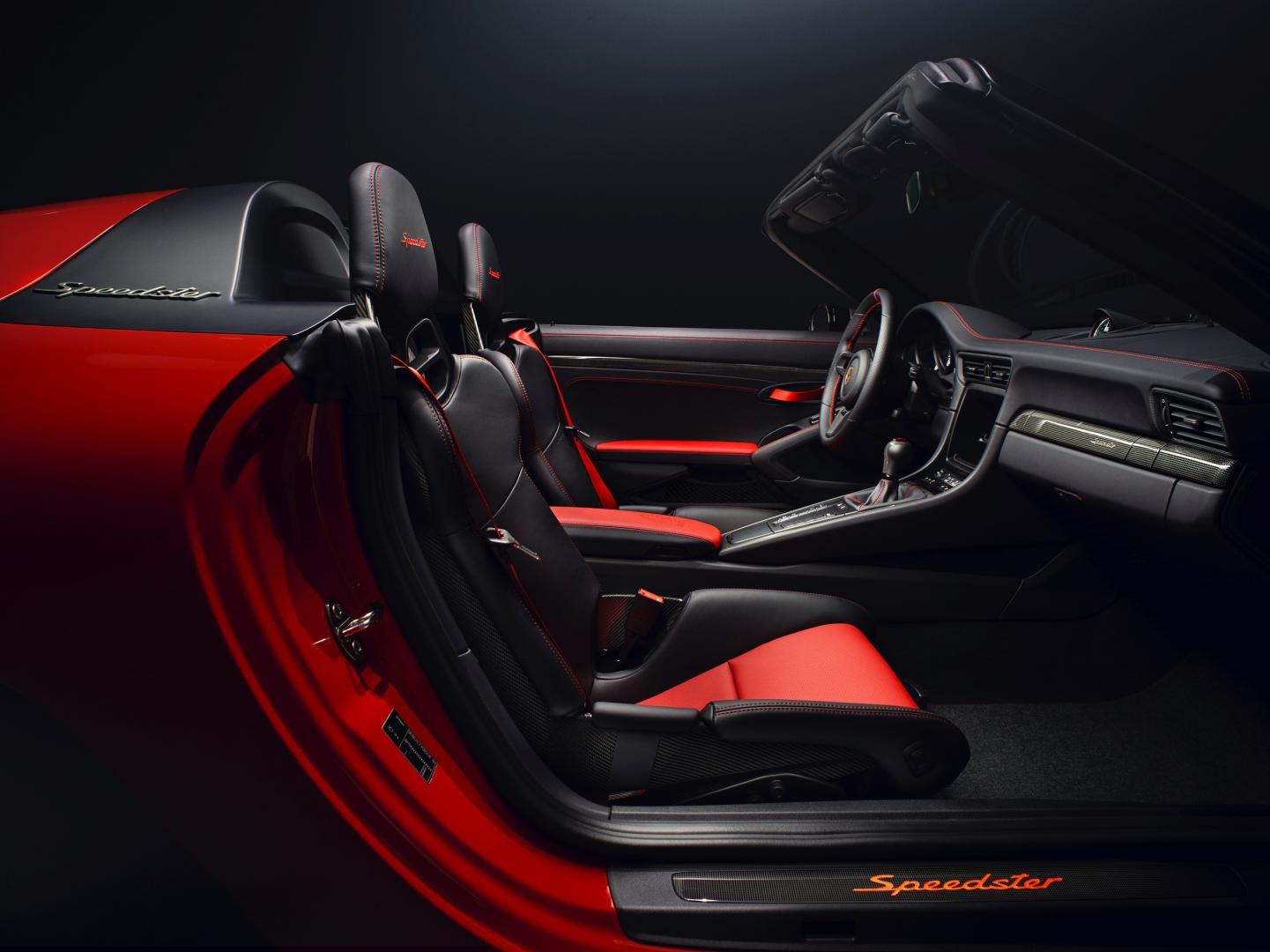 Porsche 911 Speedster interieur