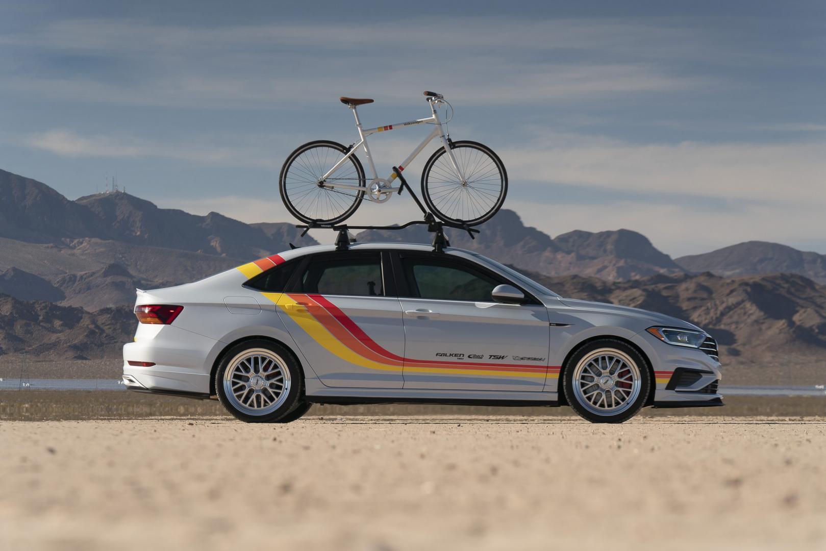 Volkswagen Jetta air design fiets retro fiets fietsendrager