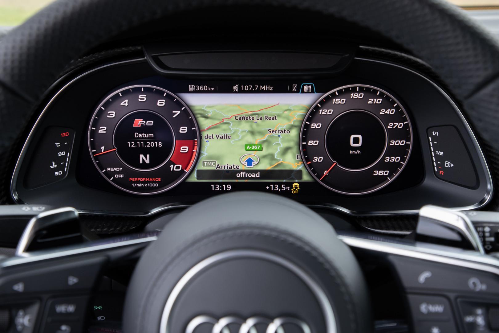 Audi R8 V10 tellers