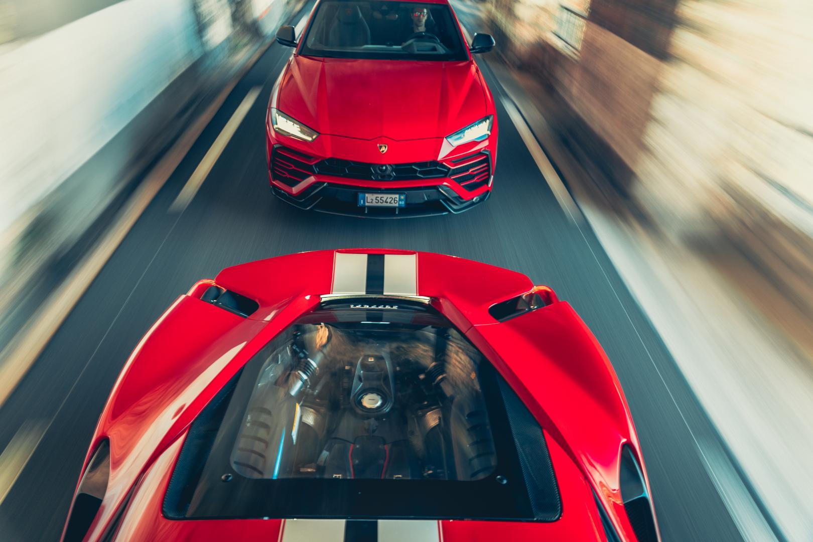 Ferrari 488 Pista vs Lamborghini Urus
