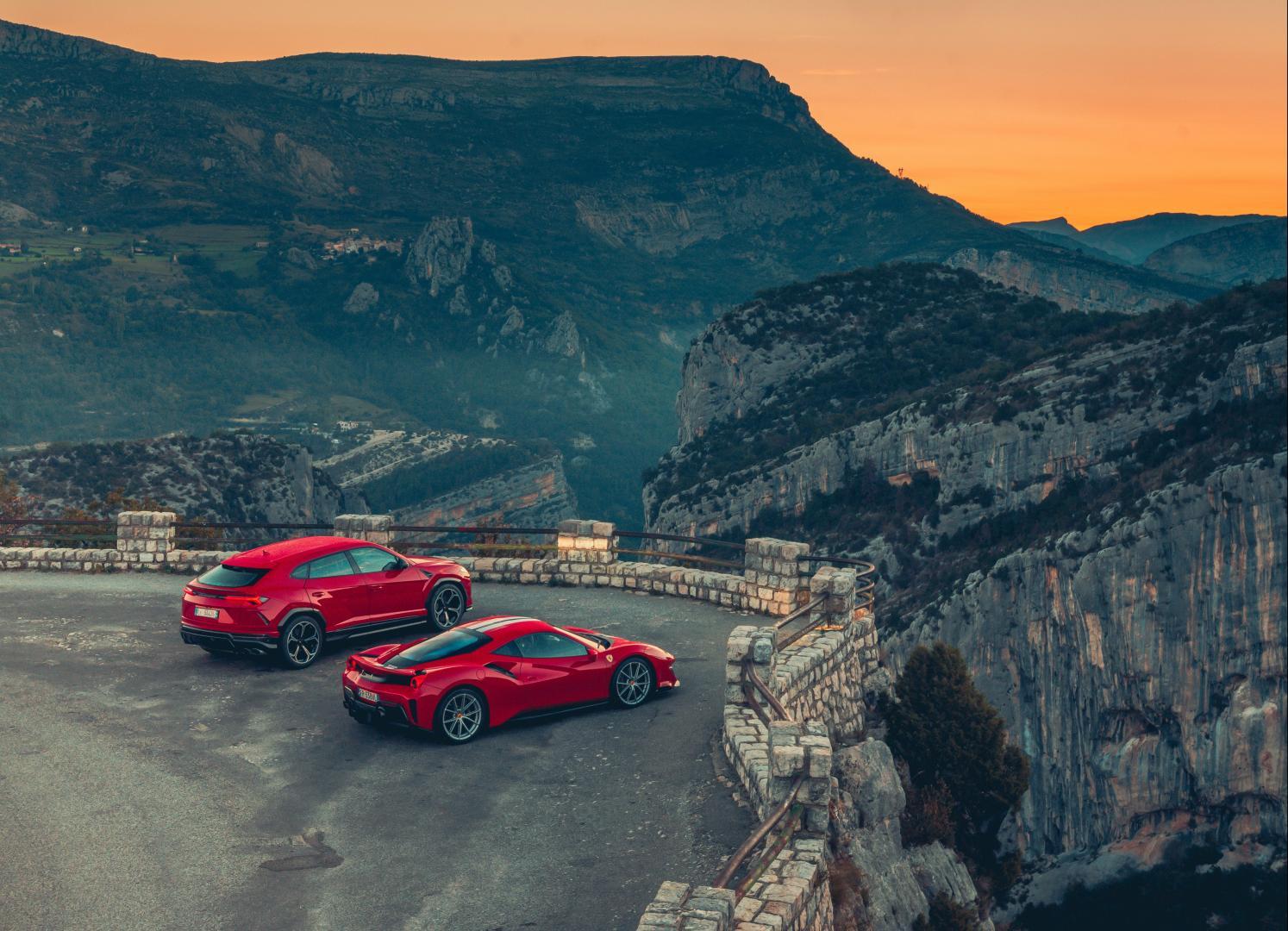 Ferrari 488 Pista vs Lamborghini Urus 2