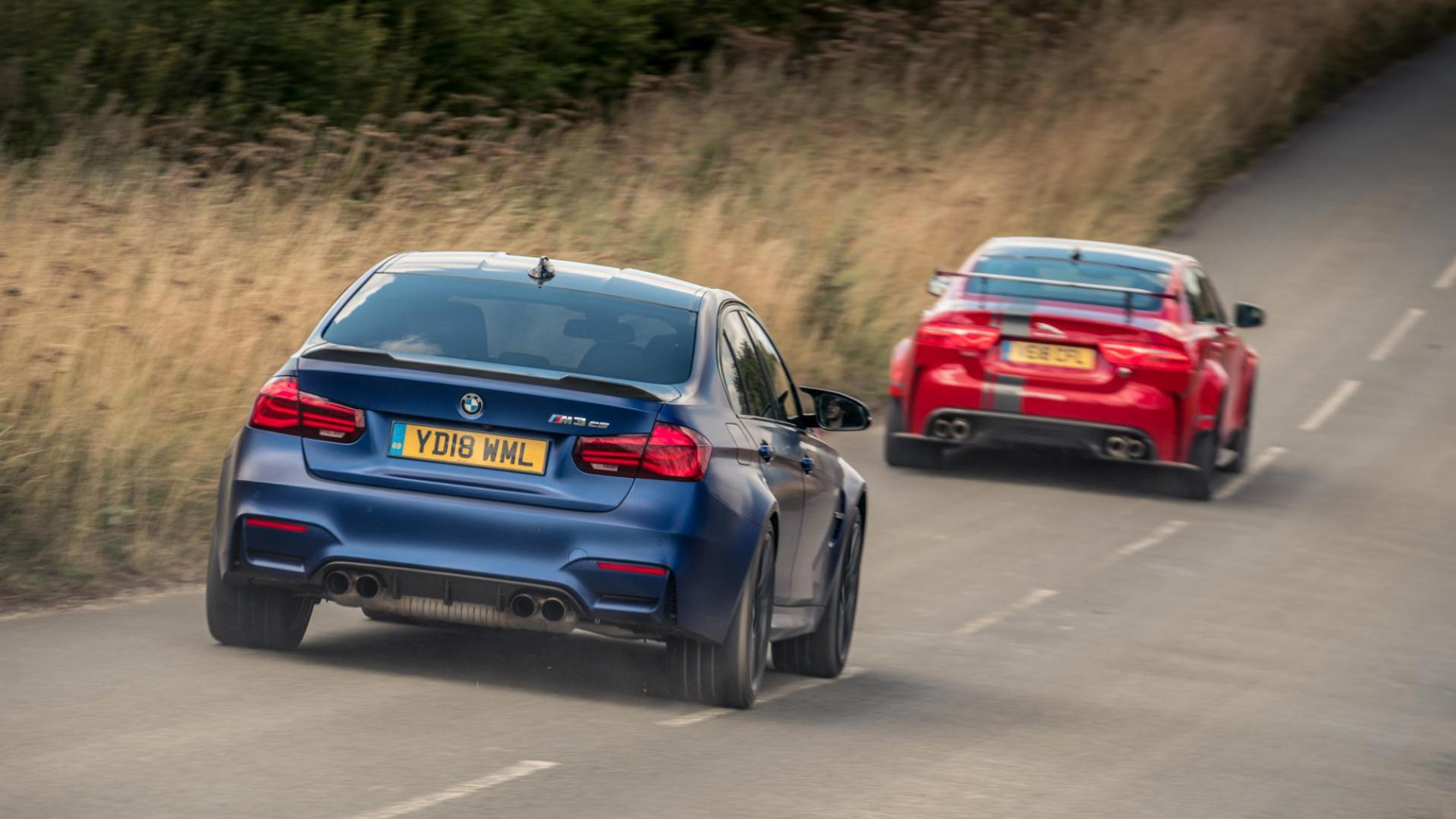 Jaguar XE SV Project 8 vs BMW M3 CS x2