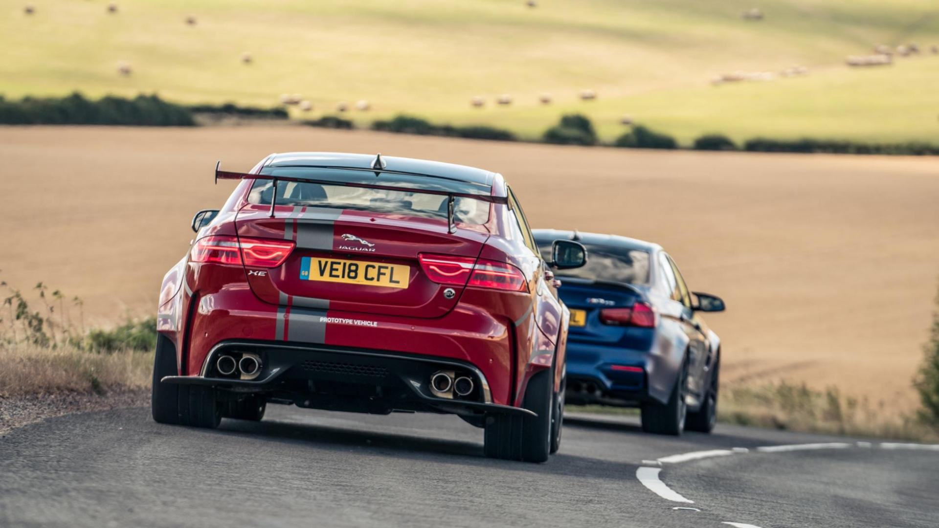 Jaguar XE SV Project 8 vs BMW M3 CS