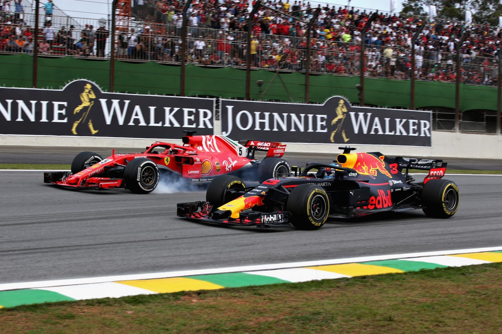 Sebastian Vettel Daniel Ricciardo GP Van Brazilie