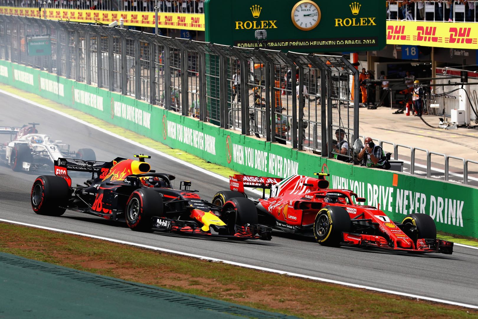 kimi raikkonen Max Verstappen GP van brazilie