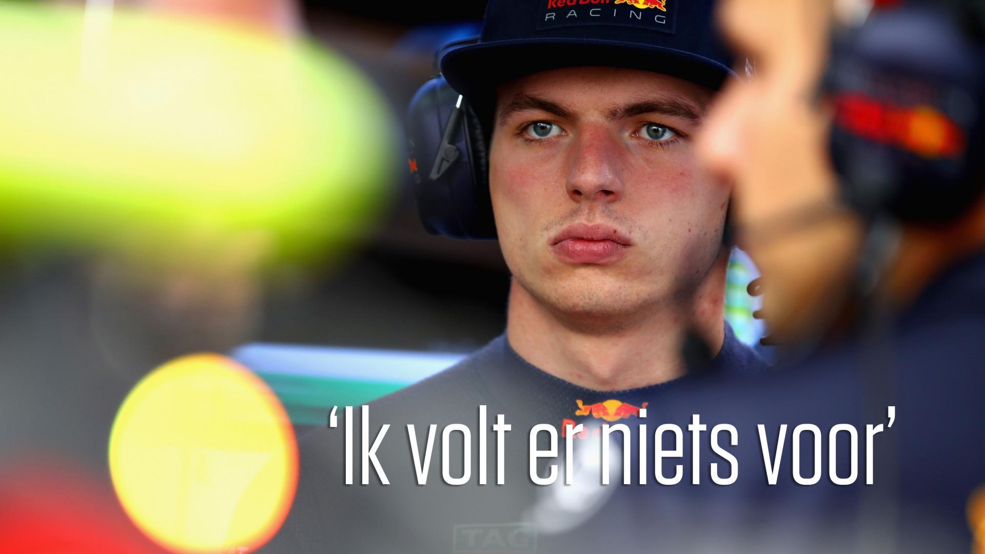 Max Verstappen wil niet elektrisch rijden