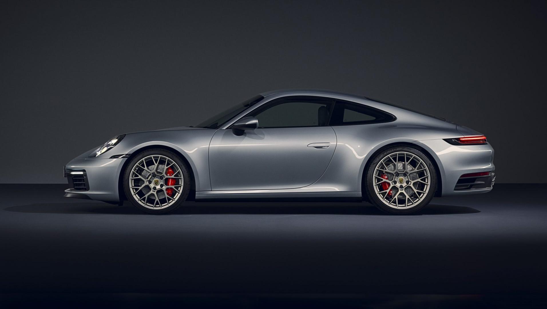 Porsche 911 992 zijkant