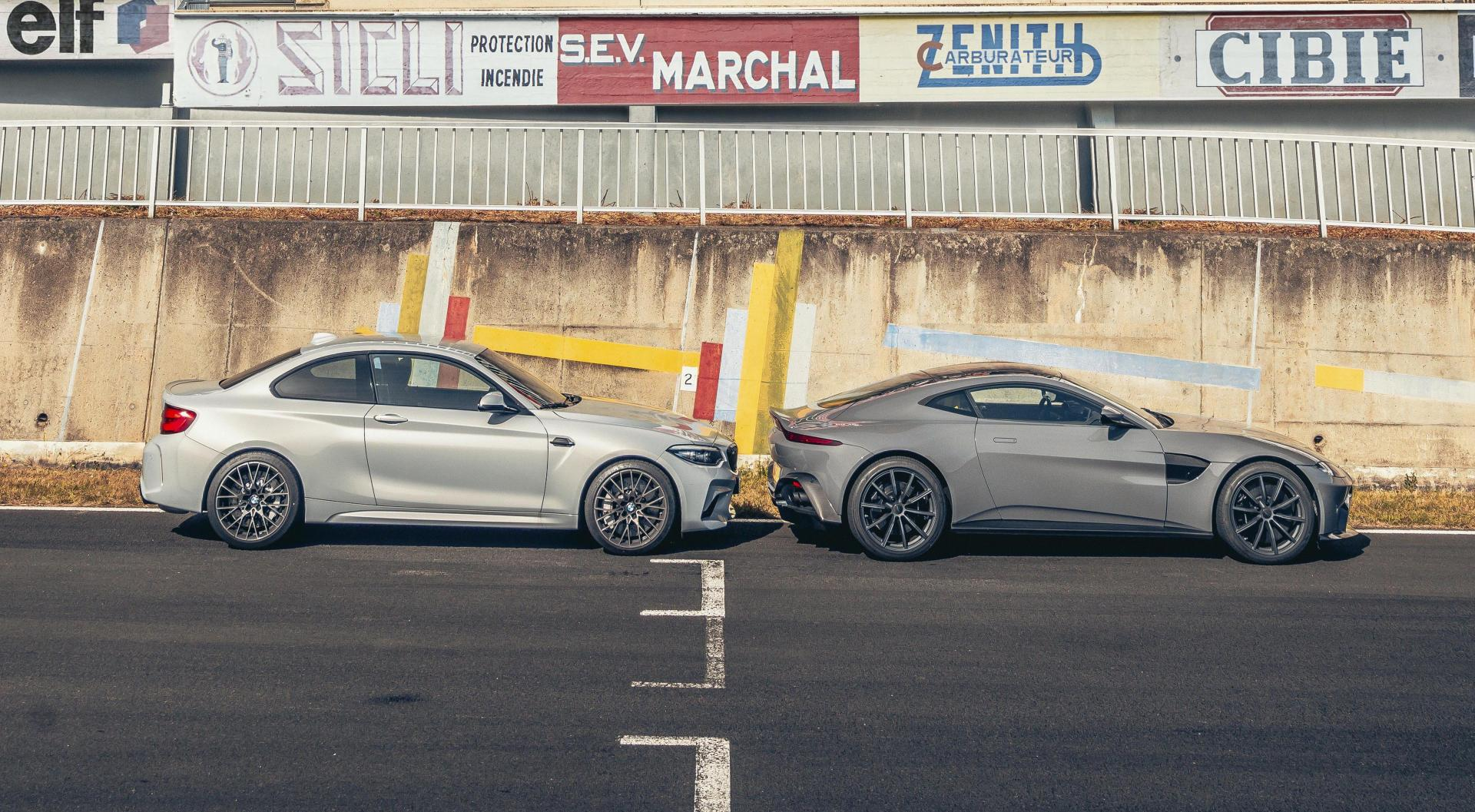 BMW M2 Competition vs Aston Martin Vantage