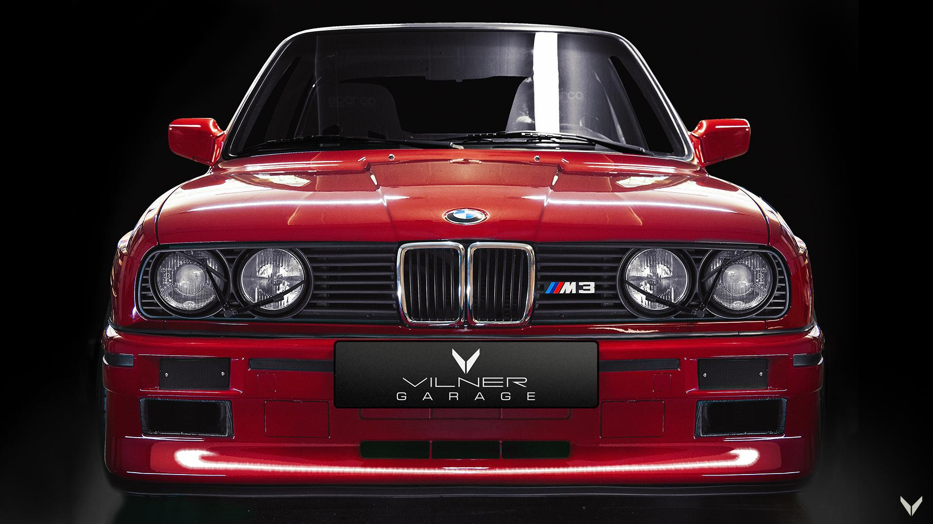 BMW M3 E30 Evo door Vilner Garage grille koplamp