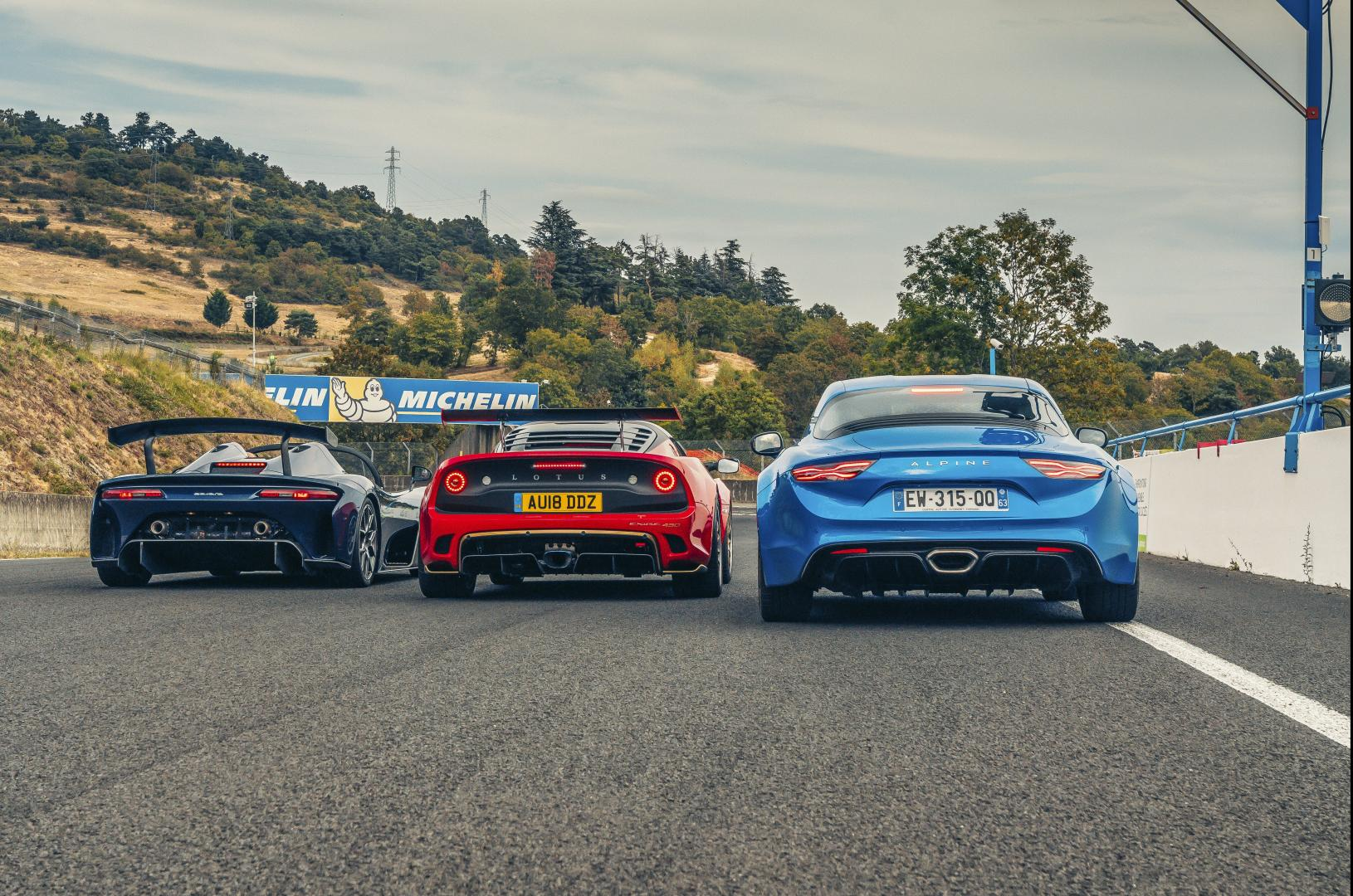 Dallara Stradale vs Alpine A110 vs Lotus Exige Cup 430