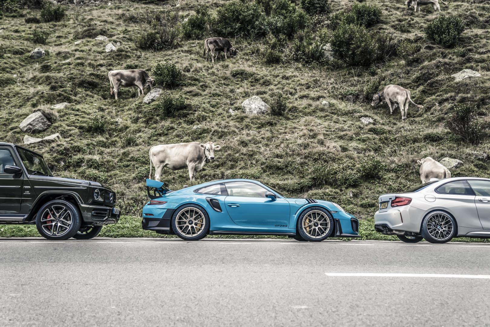 Mercedes-AMG G 63 vs Porsche 911 GT2 RS vs BMW M2 Competition 5