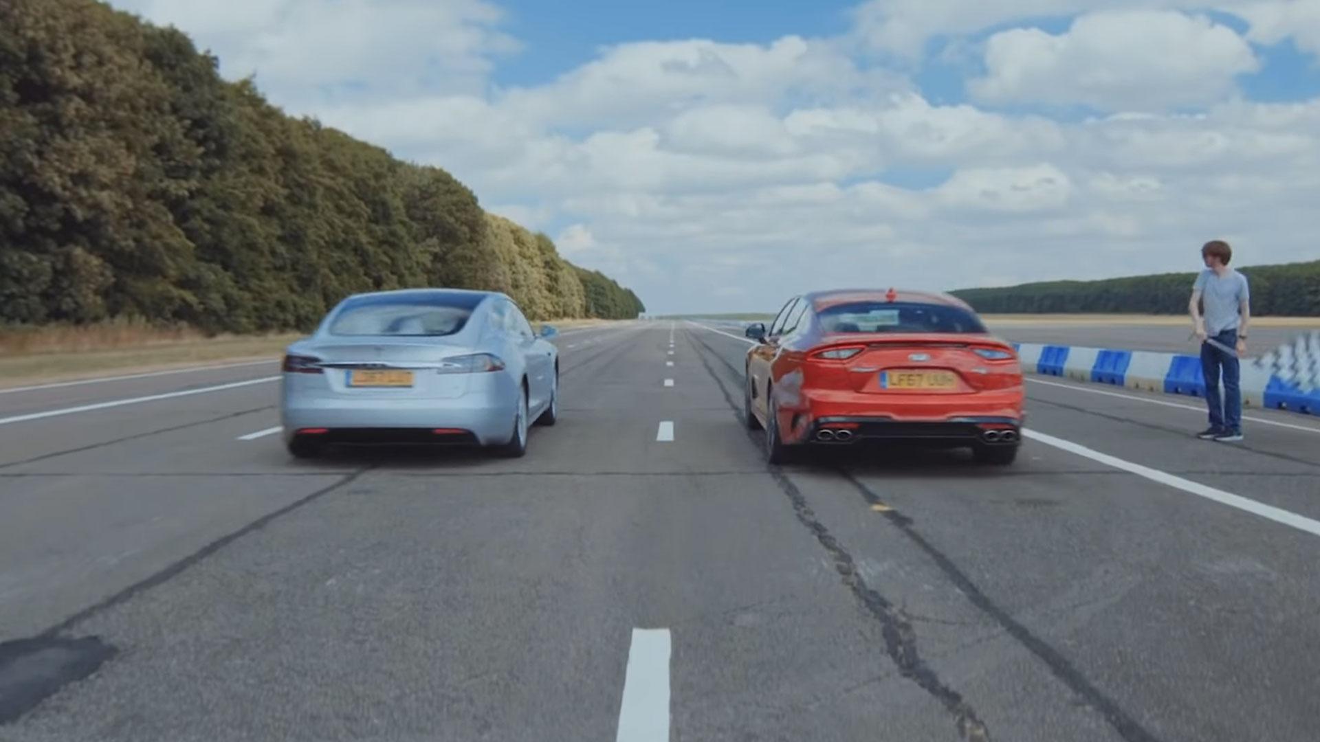 Tesla Model S 75D vs Kia Stinger GT V6
