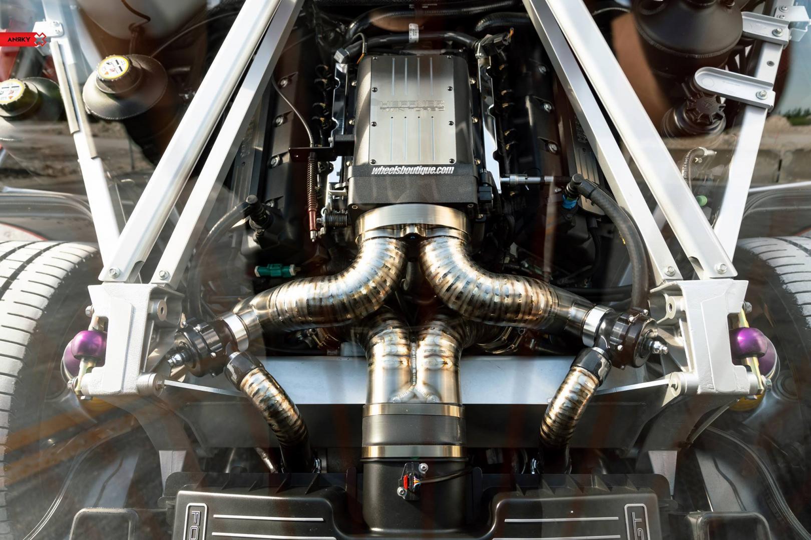 Ford gt met 1.000 pk v8 motor titanium