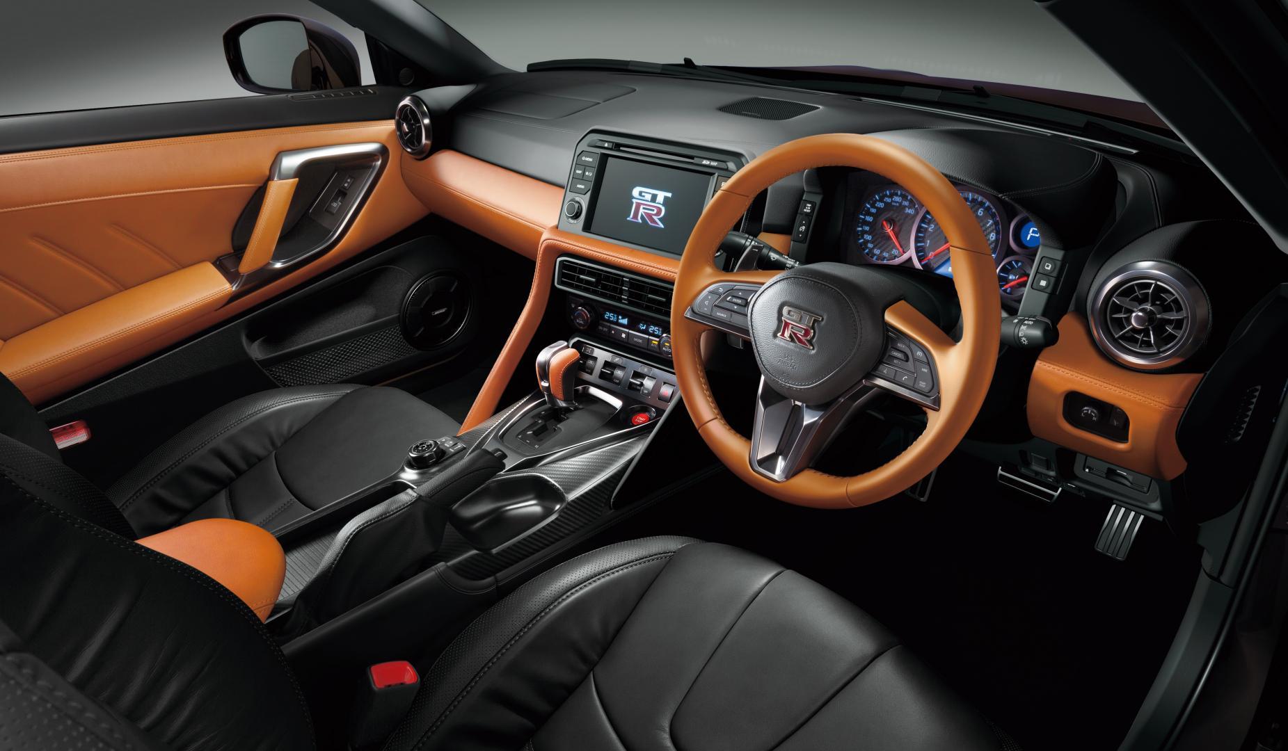 Nissan GT-R in Midnight Opal dashboard