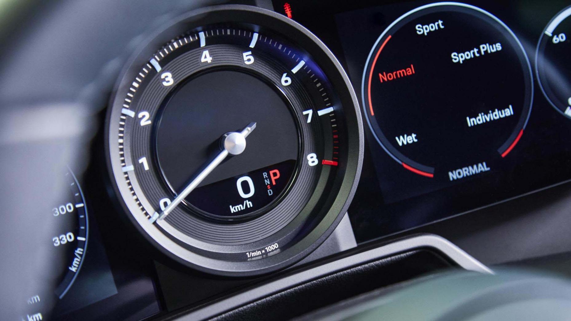 Porsche 911 992 teller wet mode