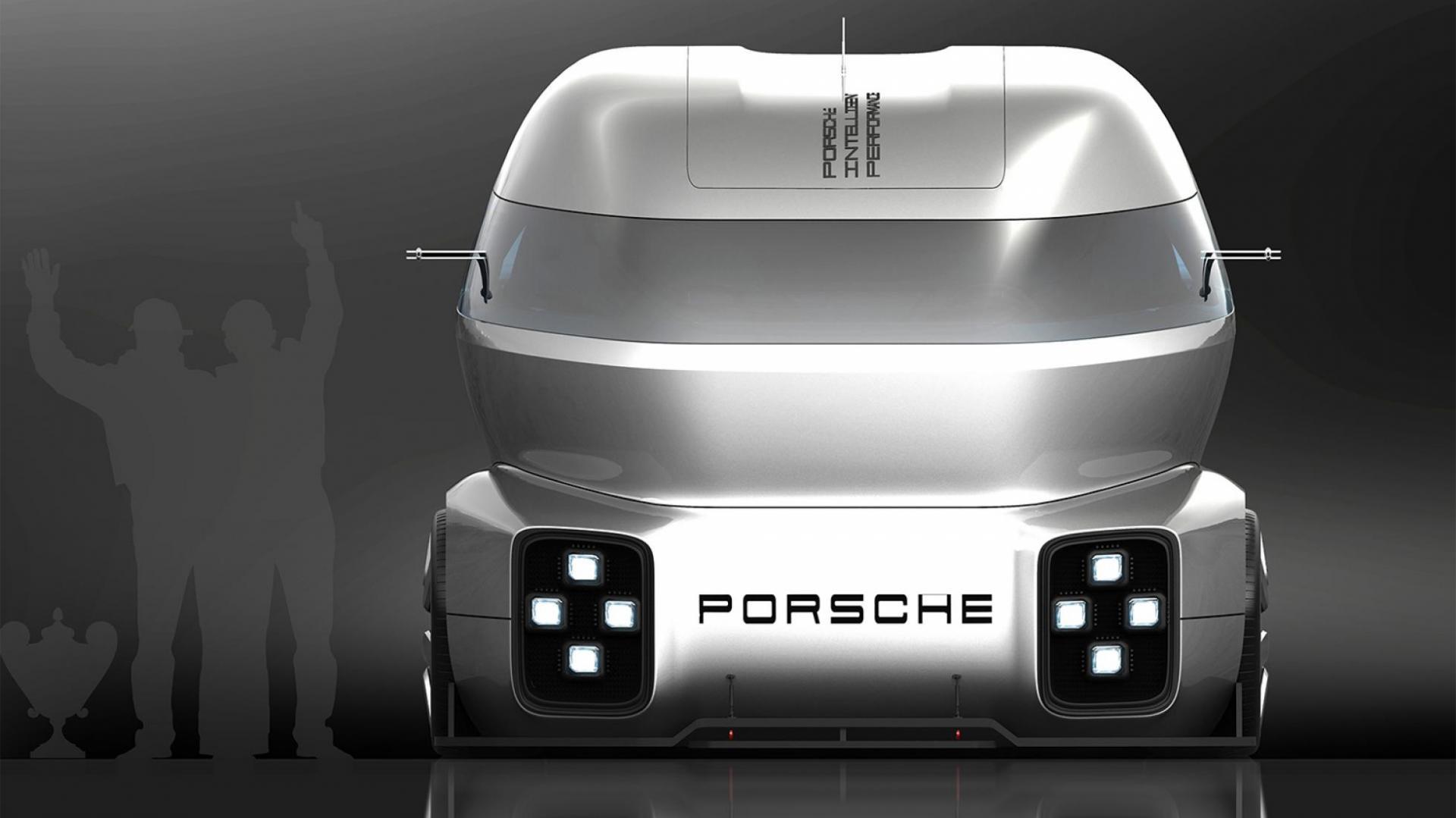Porsche racevrachtwagen
