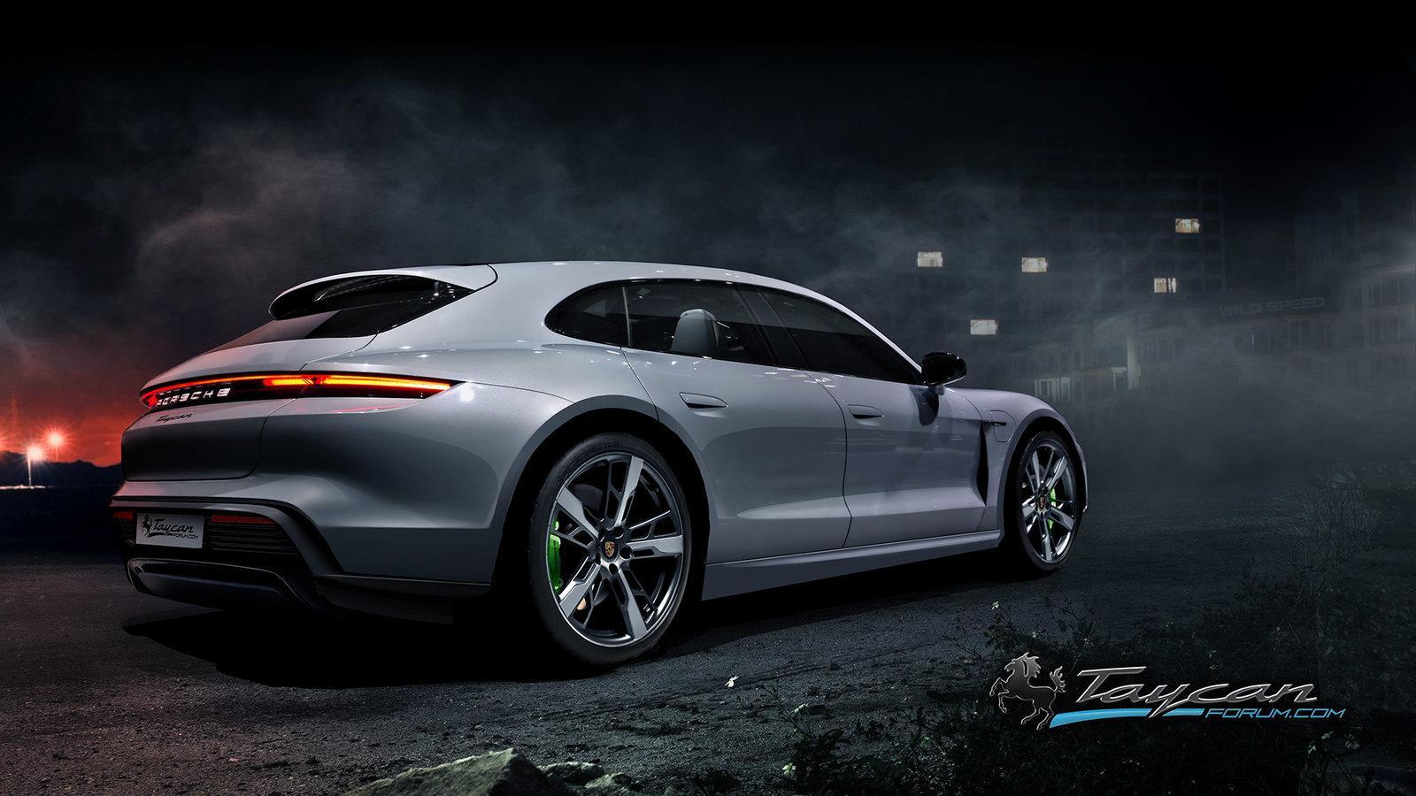 Wordt dit dan de nieuwe elektrische Porsche Taycan Sport Turismo?