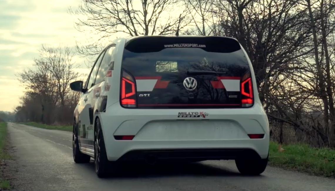 Volkswagen Up GTI met een Milltek-uitlaat