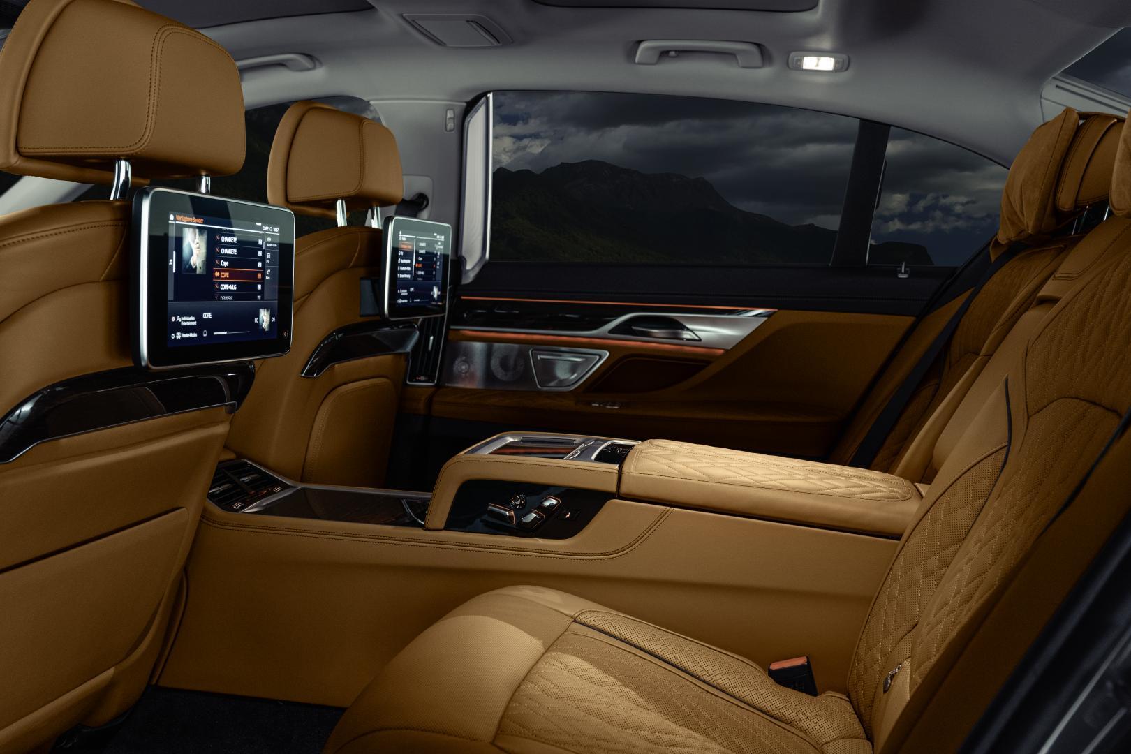 BMW 7-serie achterbank tablet scherm