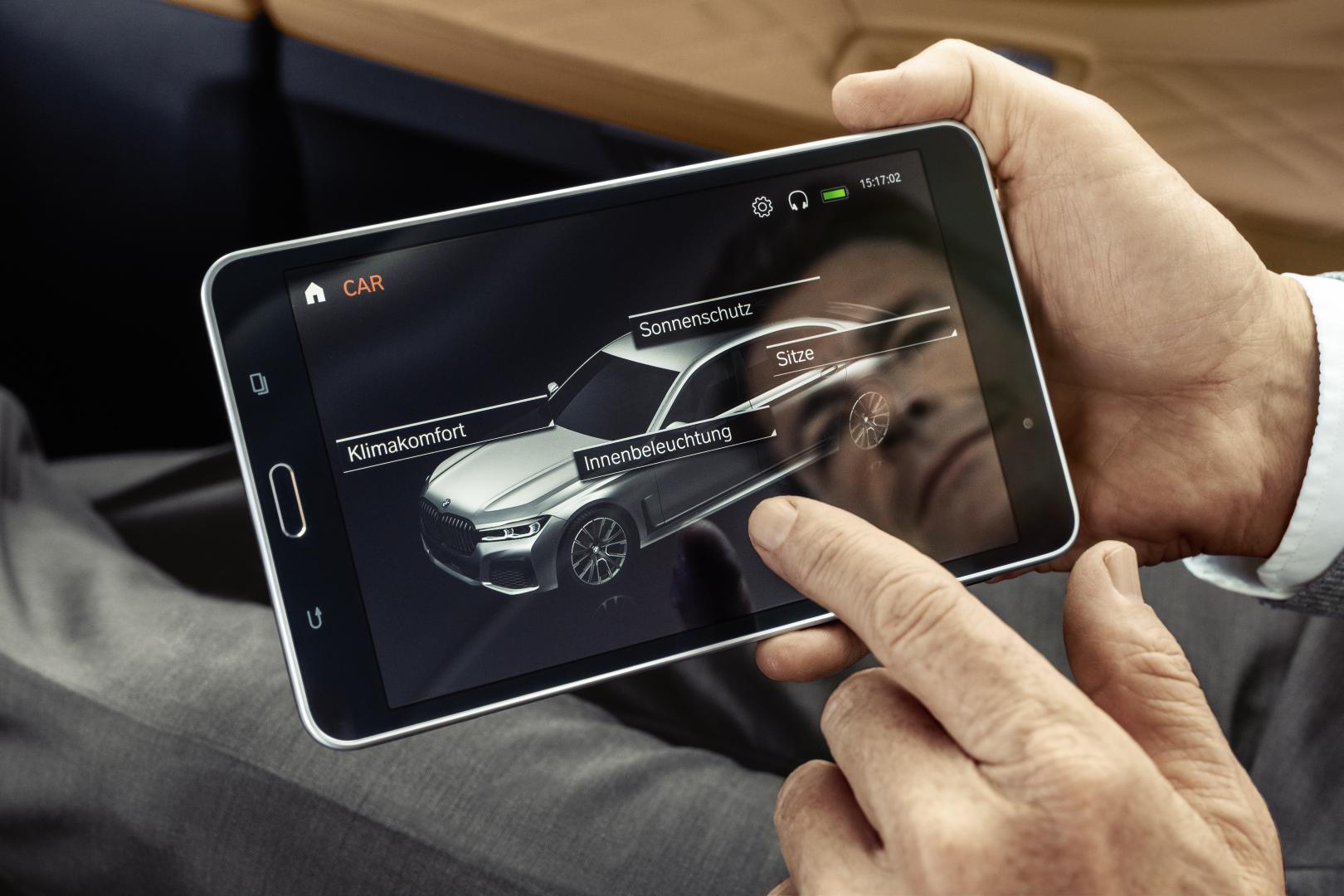 BMW 7-serie tablet scherm