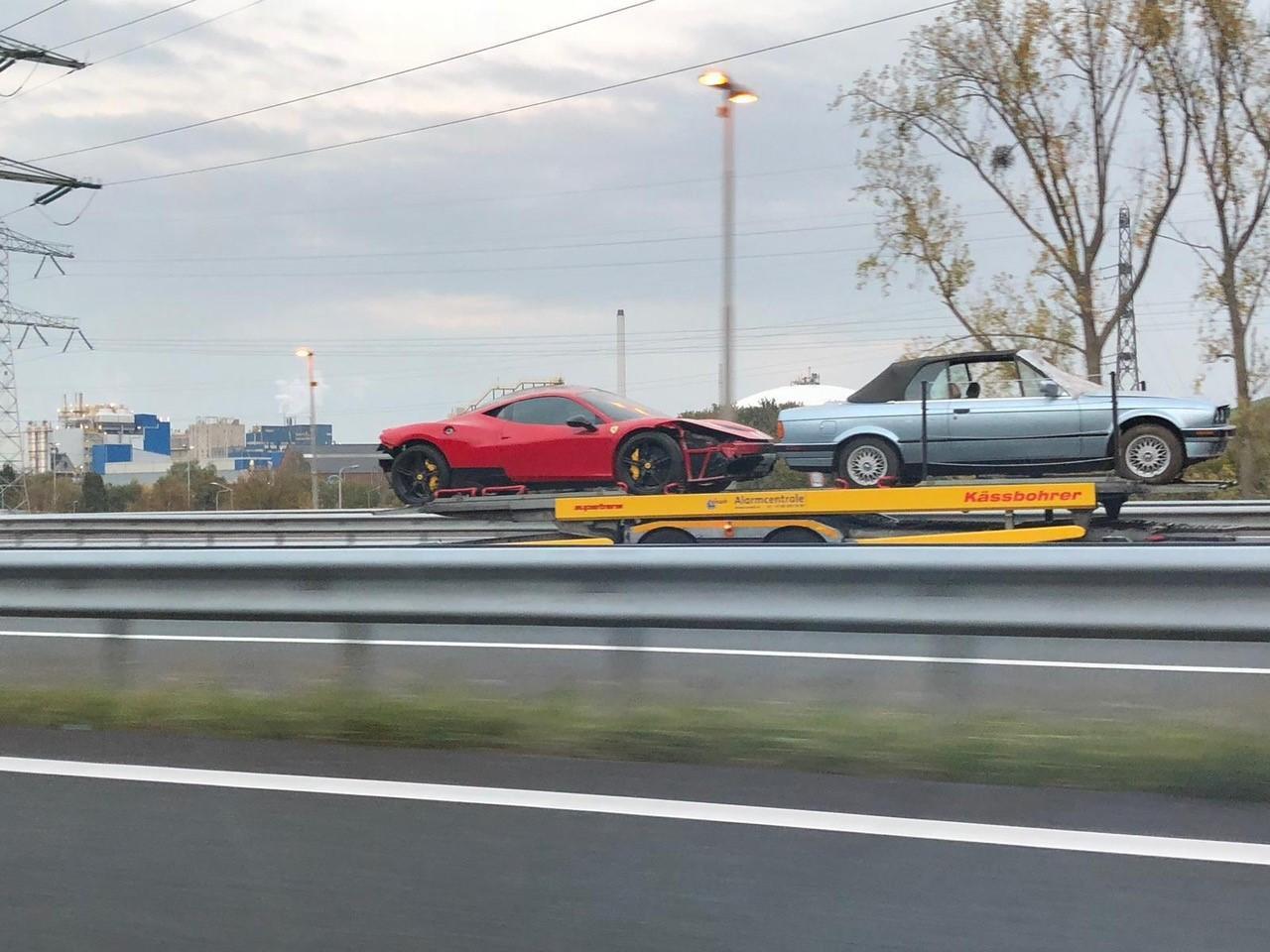 Ferrari 458 speciale crash nederland