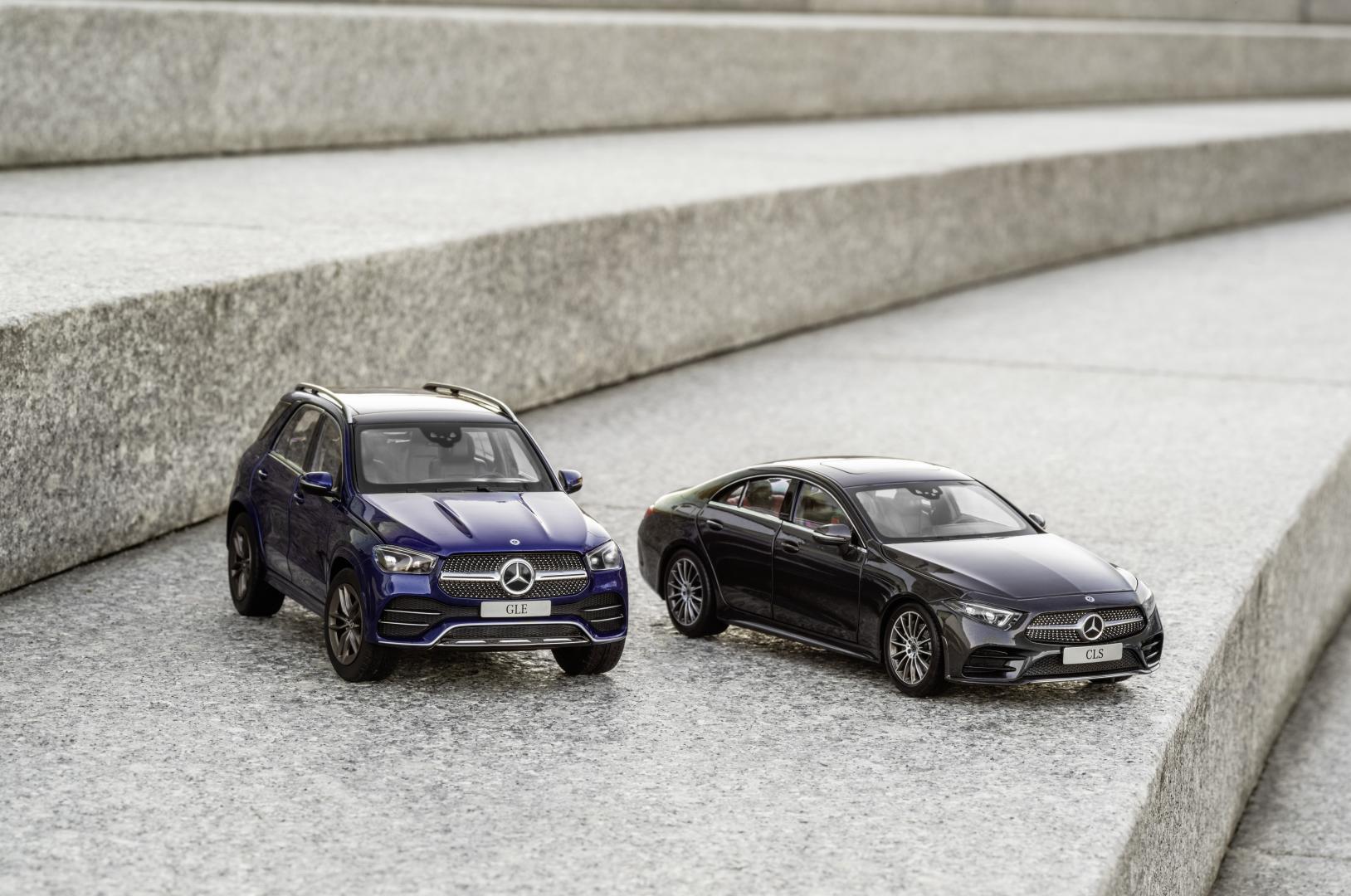 Mercedes GLE en CLS schaalmodel