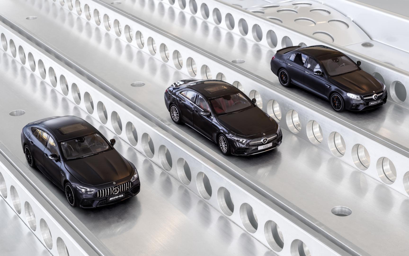 Mercedes-AMG GT 63 S 4-door en CLS en E 63 S Schaalmodel