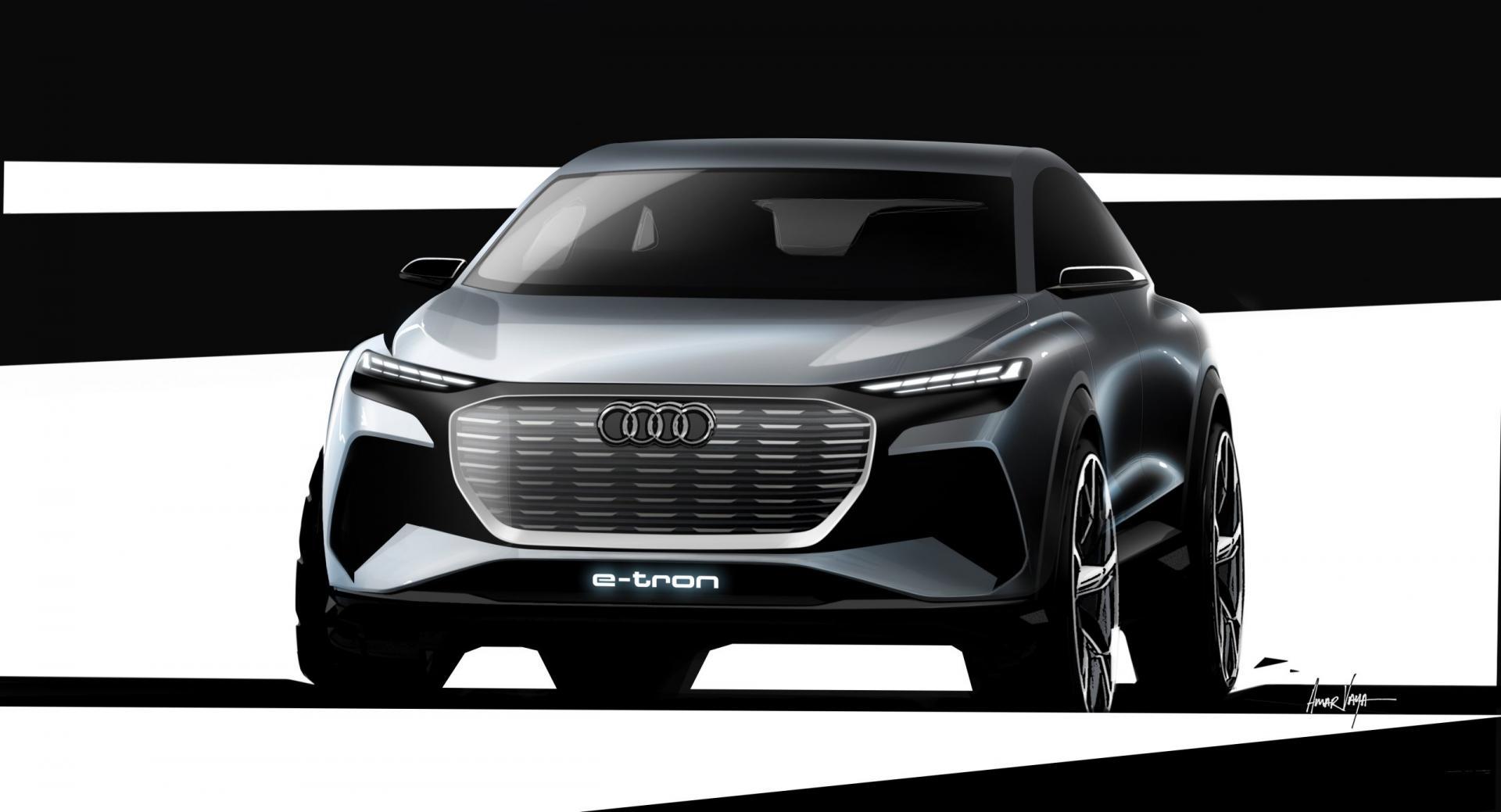 Audi Q4 E-Tron Schets