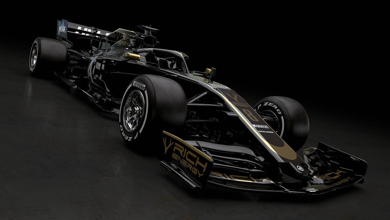 auto van Haas F1 Team VF-19