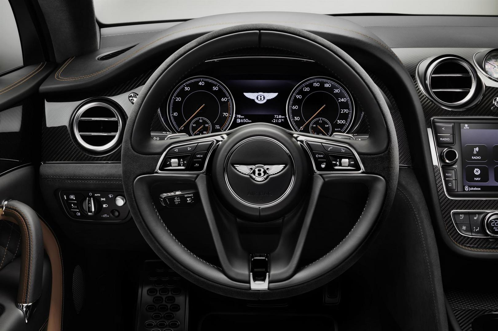 Bentley Bentayga Speed interieur stuur
