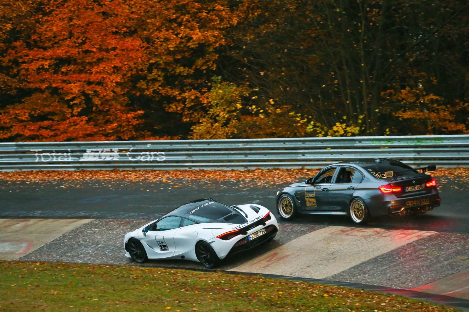 BMW M3 en McLaren 720S van Apex op de Nurburgring Nordschleife