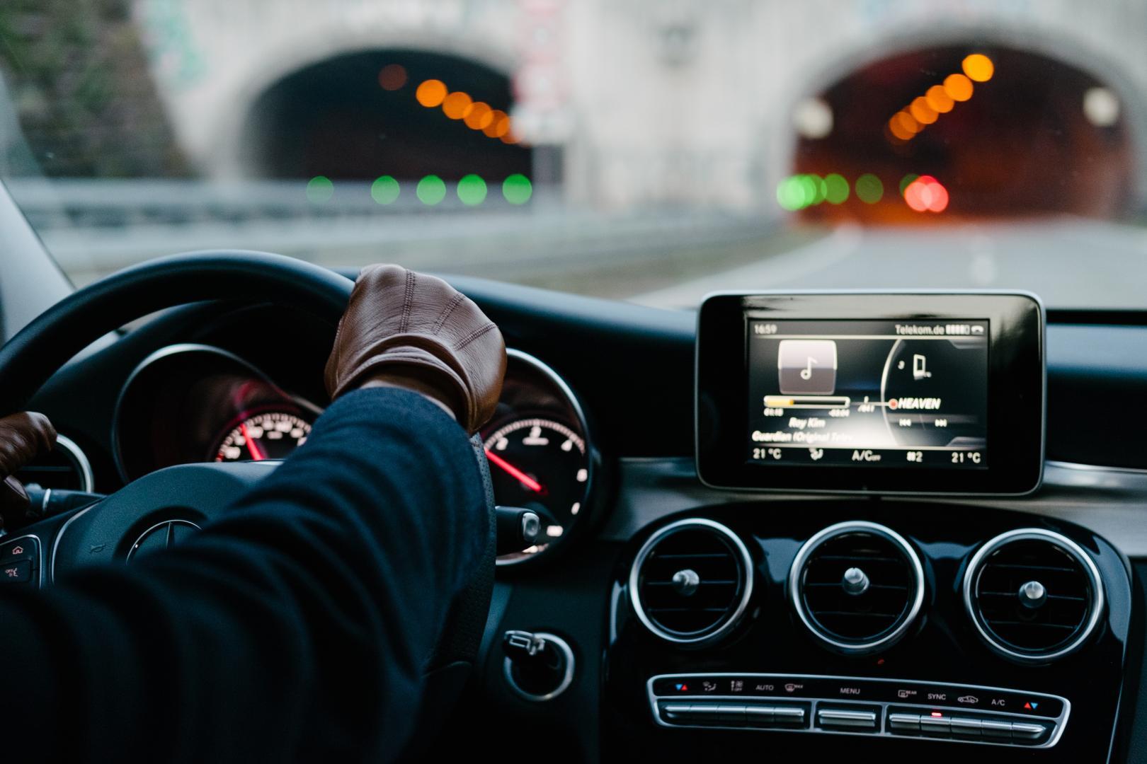 Mercedes op de Duitse Autobahn