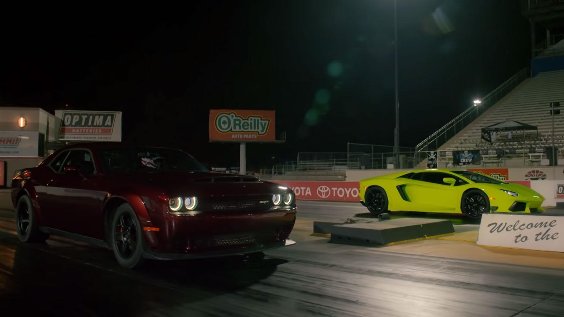 Dodge Demon vs Lamborghini Aventador