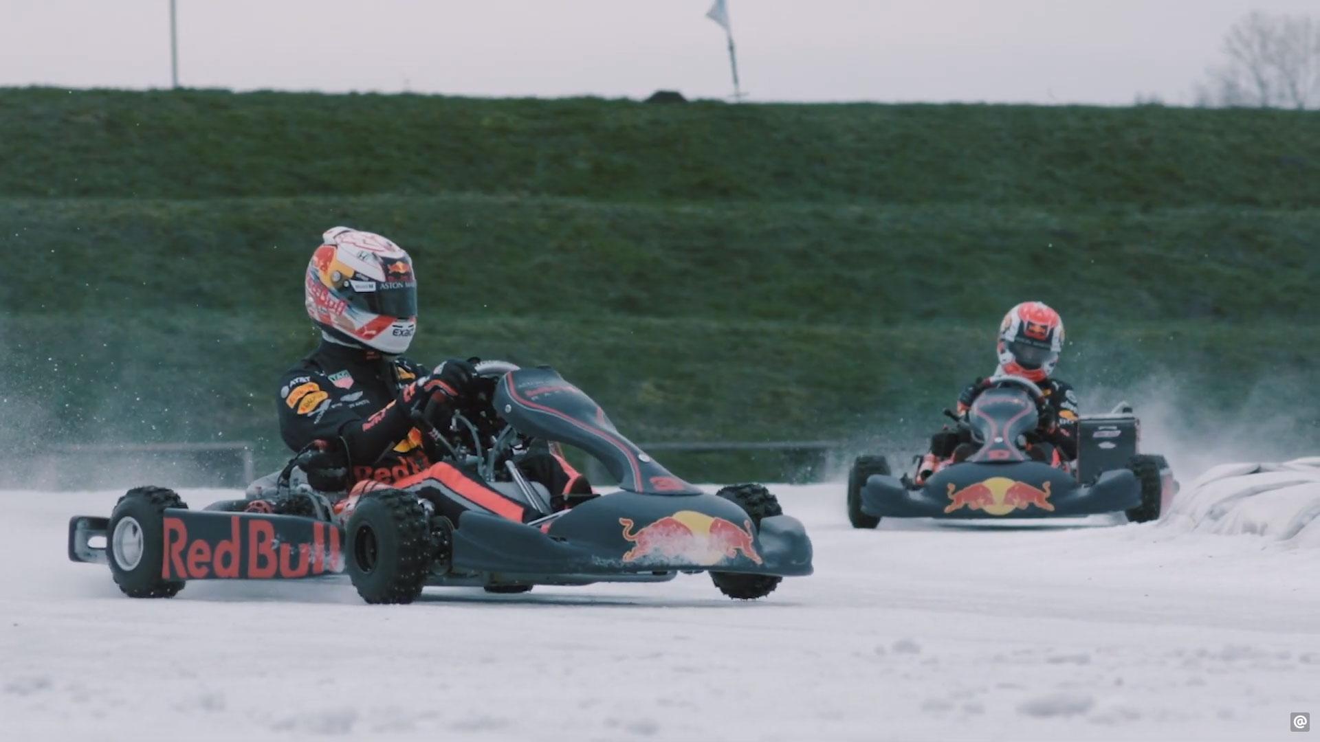 Max Verstappen gaat ijskarten in Nederland