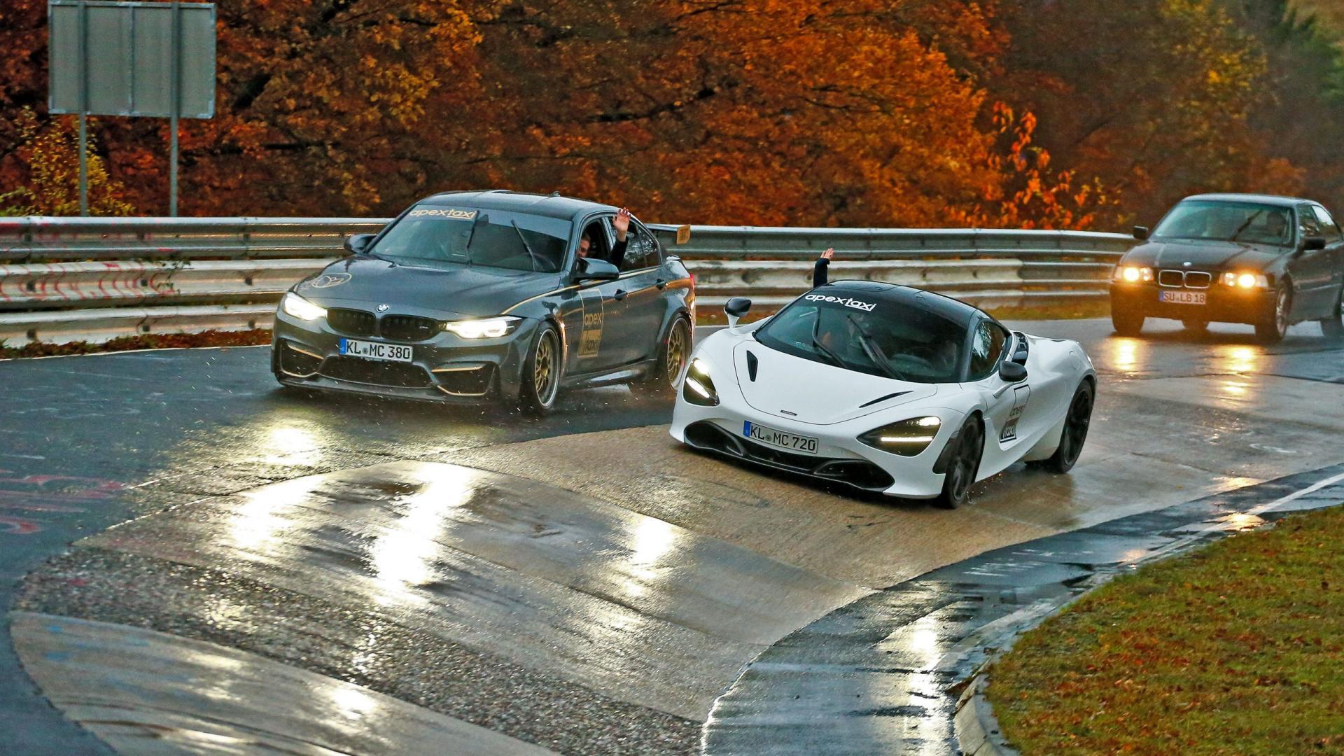 BMW M3 en McLaren 720S van Apex op de Nurburgring Nordschleifev