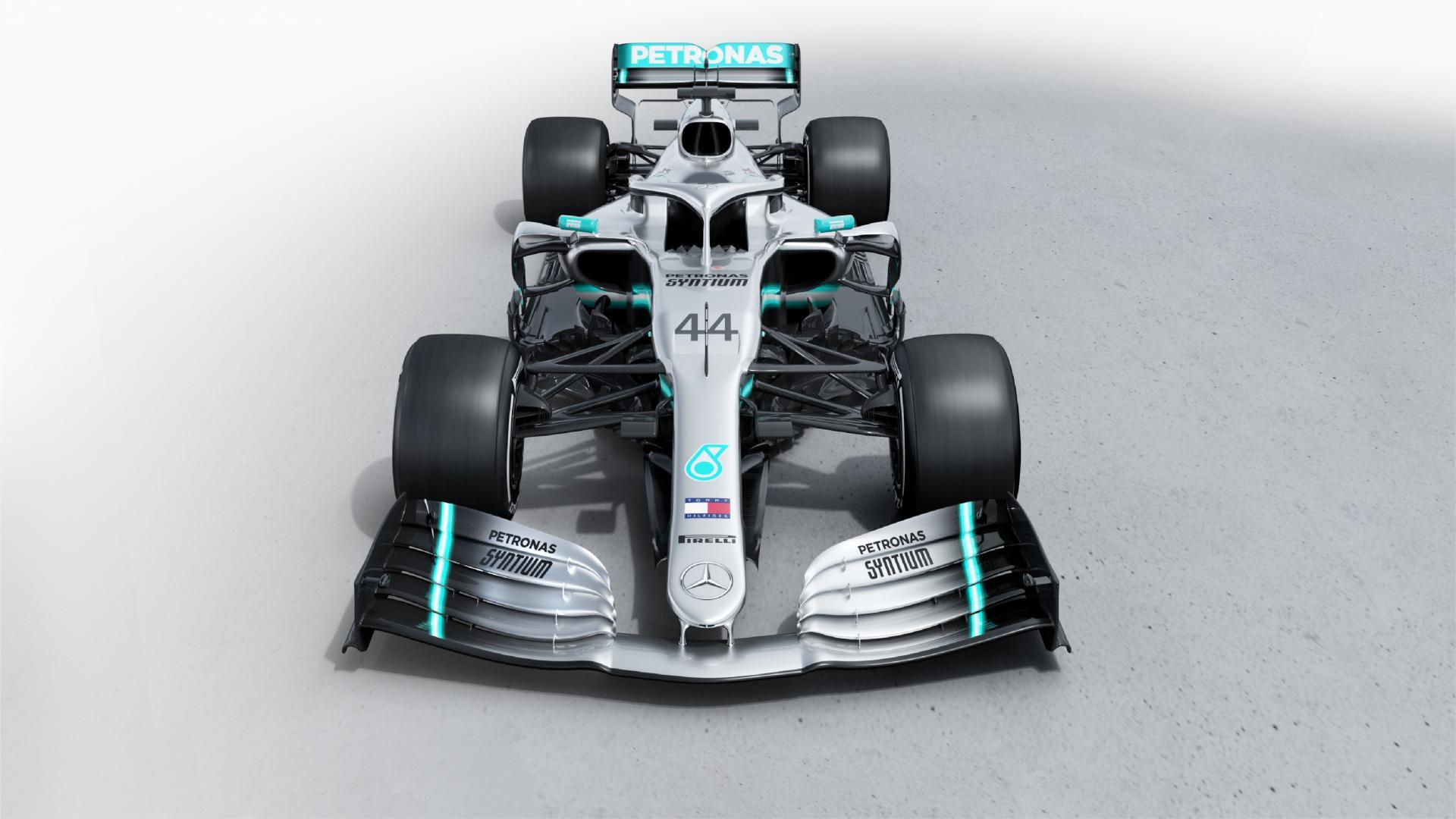 Mercedes-AMG W10 F1-auto van Lewis Hamilton