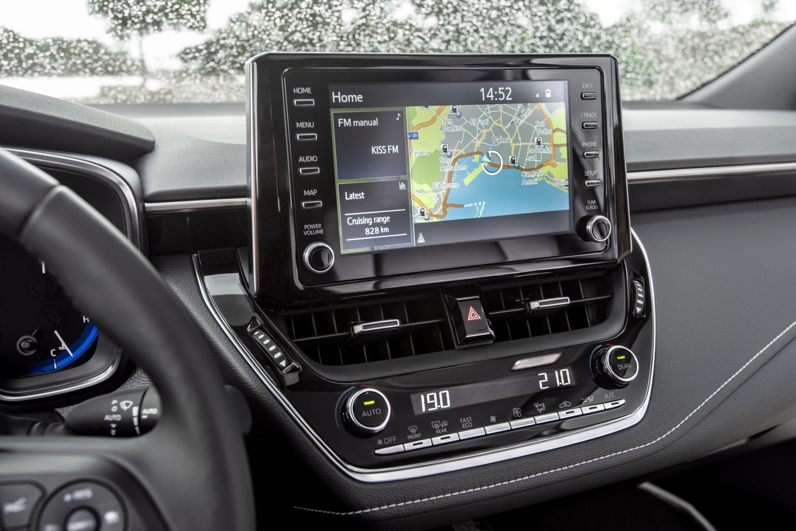 Toyota Corolla 2019 interieur navigatie