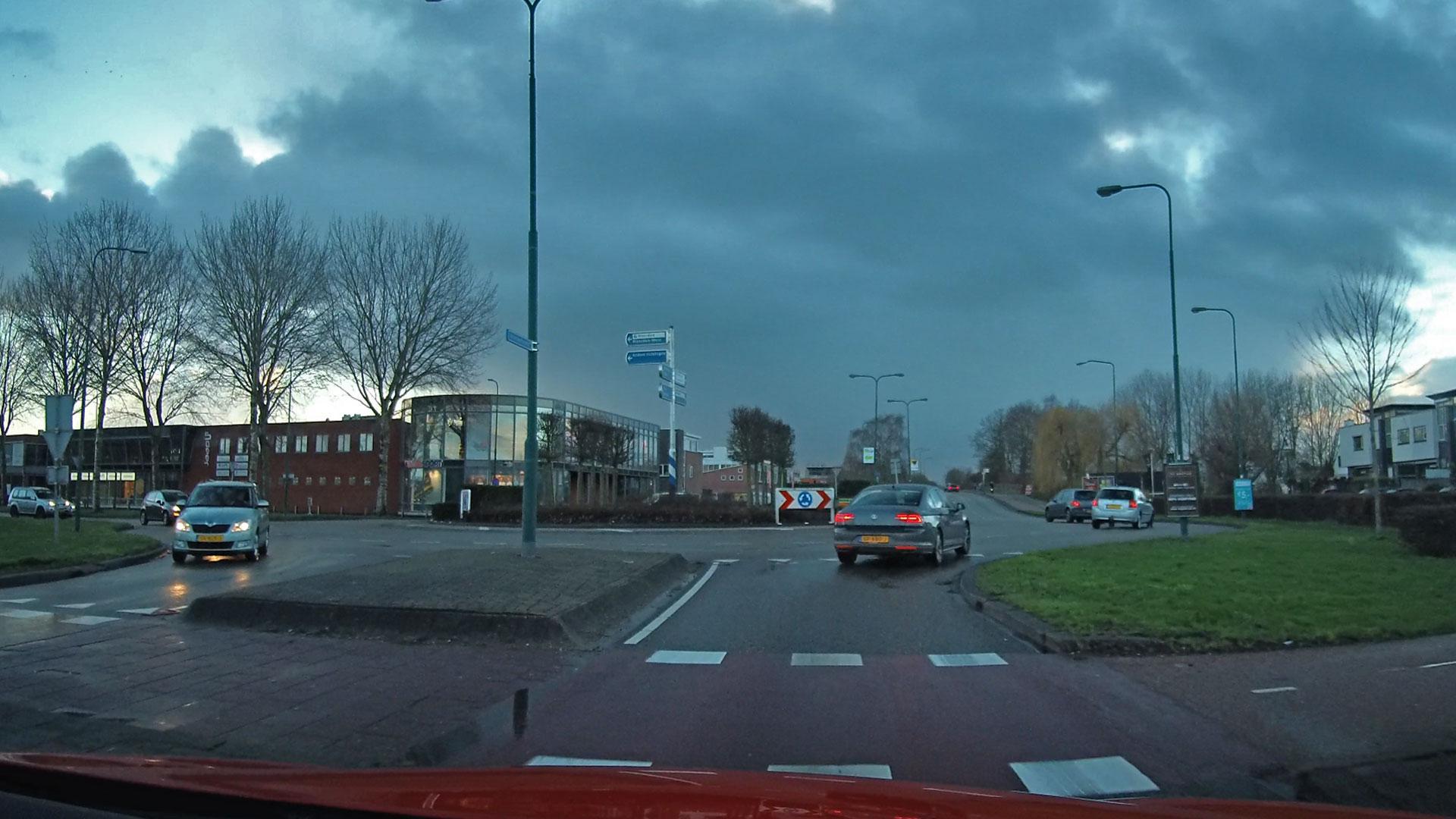 De gladde driftrotonde in Woerden